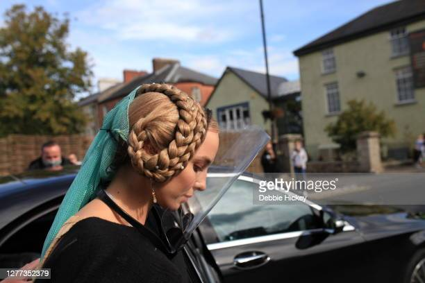 Jodie Comer arrives on set to film 'The Last Duel' on September 29, 2020 in Cahir, Co.Tipperary.