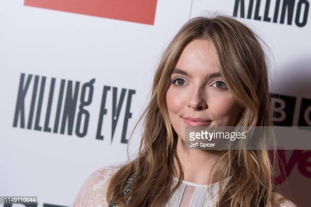 Jodie Comer attends the Killing Eve Series Two premiere at Curzon Soho on May 14 2019 in London England