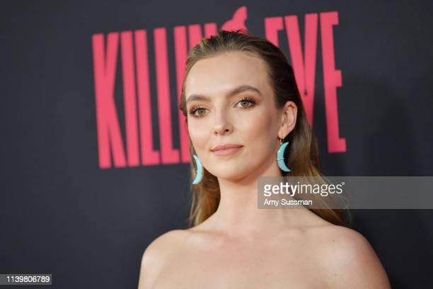 Jodie Comer attends the premiere of BBC America and AMC's Killing Eve Season 2 at ArcLight Hollywood on April 01 2019 in Hollywood California