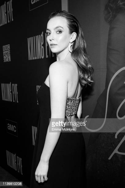 Jodie Comer attends the premiere of BBC America and AMC's 'Killing Eve' at ArcLight Hollywood on April 01 2019 in Hollywood California