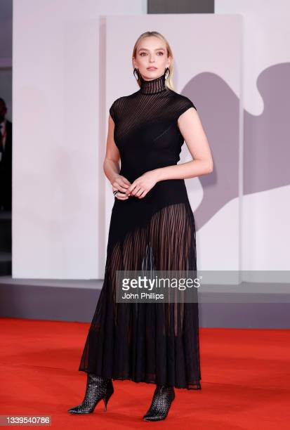 """Jodie Comer attends the red carpet of 20th Century Studios' movie """"The Last Duel"""" during the 78th Venice International Film Festival on September 10,..."""