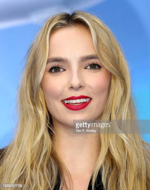 Jodie Comer attends the UK Premiere of 20th Century Studios' Free Guy on August 09, 2021 in London, England.