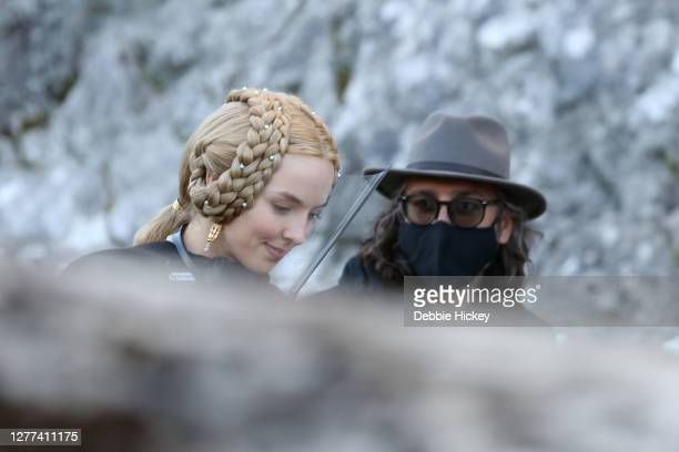 Jodie Comer leaving the set of the film 'The Last Duel' on September 29, 2020 in Cahir, Co.Tipperary.