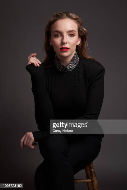 Jodie Comer of AMC's Killing Eve poses for a portrait during the 2019 Winter TCA at The Langham Huntington Pasadena on February 9 2019 in Pasadena...