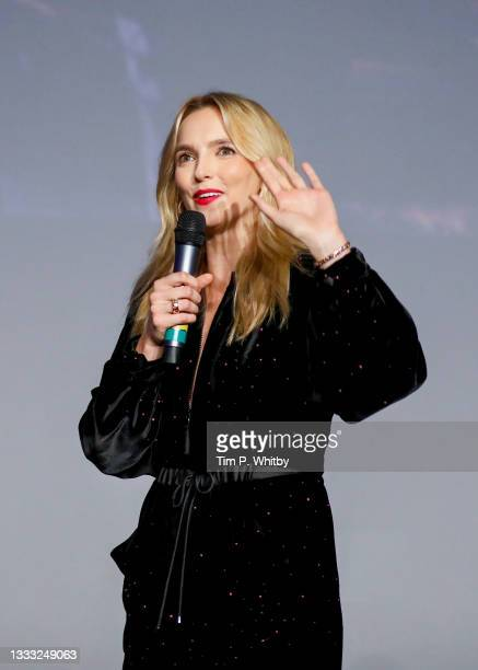 Jodie Comer on stage at the UK Premiere of 20th Century Studios' Free Guy on August 09, 2021 in London, England.