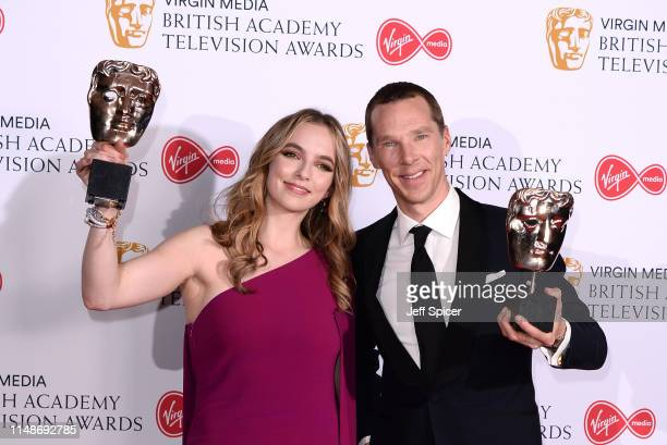 Jodie Comer winner of the Best Leading Actress Award for 'Killing Eve' and Benedict Cumberbatch winner of the Best Leading Actor Award for 'Patrick...