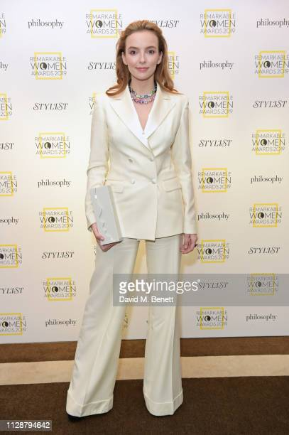 Jodie Comer winner of the Entertainer of the Year Award attends Stylist's inaugural Remarkable Women Awards in partnership with philosophy at...