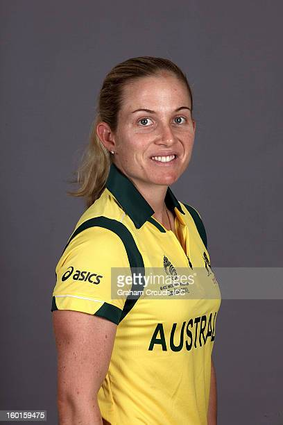 Jodie Fields Captain of Australia attends a portrait session ahead of the ICC Womens World Cup 2013 at the Taj Mahal Palace Hotel on January 27 2013...