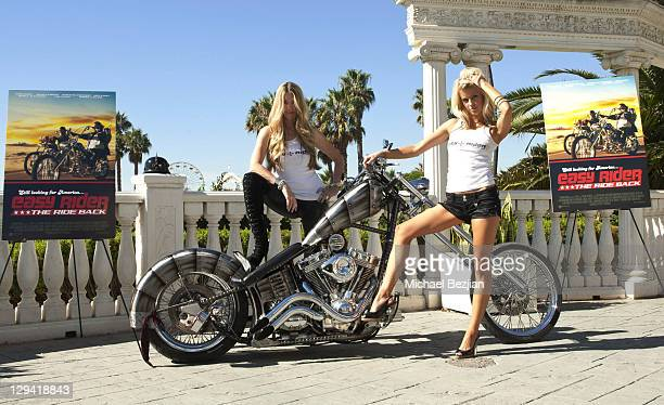 Jodie Fisher and Brittney Shelstad pose at American Film Market's 'Easy Rider The Ride Back' at the Loews Santa Monica Beach Hotel on November 3 2010...