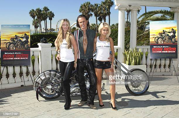 Jodie Fisher Phil Pitzer and Brittney Shelstad attend American Film Market's 'Easy Rider The Ride Back' at the Loews Santa Monica Beach Hotel on...