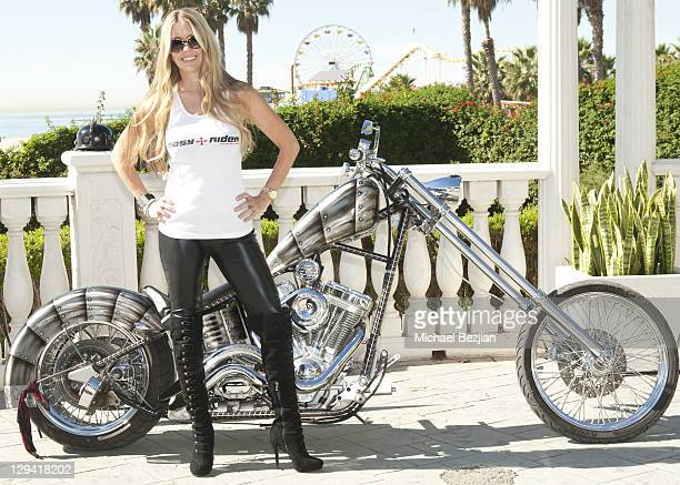 Jodie Fisher poses at American Film Market's 'Easy Rider The Ride Back' at the Loews Santa Monica Beach Hotel on November 3 2010 in Santa Monica...