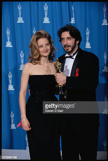 Jodie Foster and Al Pacino attend the 65th Academy Awards in Los Angeles Pacino won the Best Actor award for his leading role in Scent of a Woman