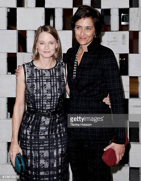 Jodie Foster and Alexandra Hedison attend the Hammer Museum's 14th annual Gala In The Garden at Hammer Museum on October 8 2016 in Westwood California