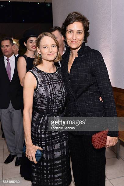 Jodie Foster and Alexandra Hedison both wearing Bottega Veneta attend the Hammer Museum 14th Annual Gala In The Garden with generous support from...