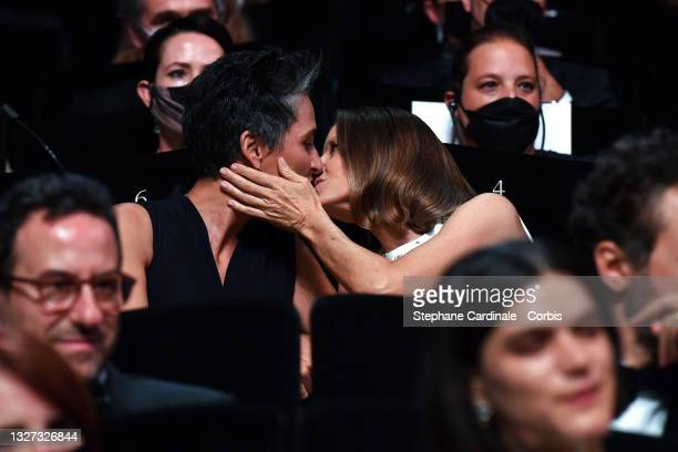 Jodie Foster and Alexandra Hedison during the opening ceremony of the 74th annual Cannes Film Festival on July 06, 2021 in Cannes, France.