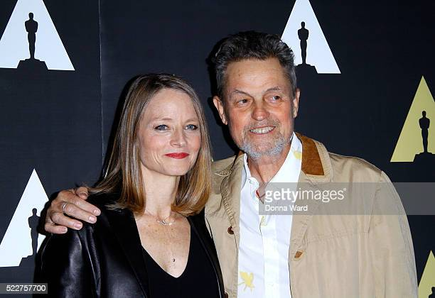 Jodie Foster and Jonathan Demme pose as The Academy Museum Presents 25th Anniversary Event Of 'Silence of the Lambs' at The Museum of Modern Art on...