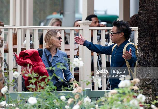 Jodie Foster and Matthew Libatique are seen in Beverly Hills on December 01 2014 in Los Angeles California