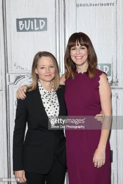 Jodie Foster and Rosemarie DeWitt attend Build Series to discuss 'Black Mirror Arkangel' at Build Studio on December 11 2017 in New York City
