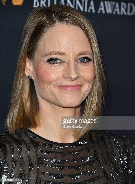Jodie Foster arrives at the 2016 AMD British Academy Britannia Awards Presented by Jaguar Land Rover And American Airlines at The Beverly Hilton...