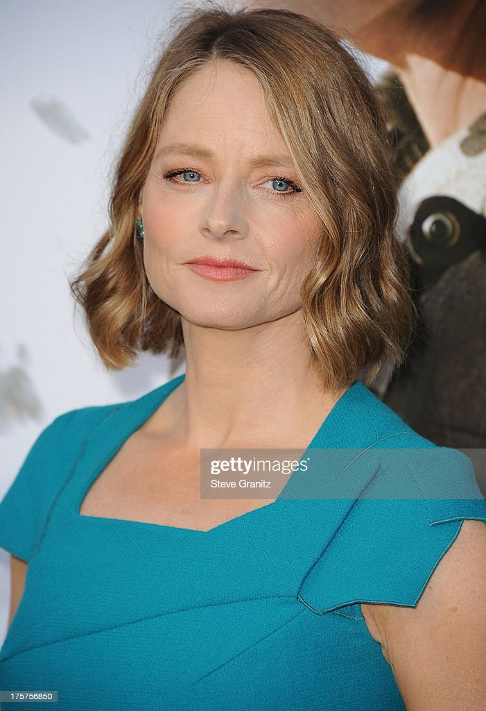 Jodie Foster arrives at the 'Elysium' - Los Angeles Premiere at Regency Village Theatre on August 7, 2013 in Westwood, California.