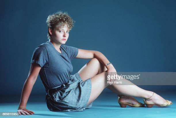 Jodie Foster at 22 years old a year before she graduated with honors from Yale University poses for photographs April 18 1984 in Malibu California