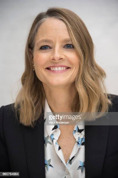 "Jodie Foster at the ""Hotel Artemis"" Press Conference at the Four Seasons Hotel on April 24, 2018 in Beverly Hills, California."