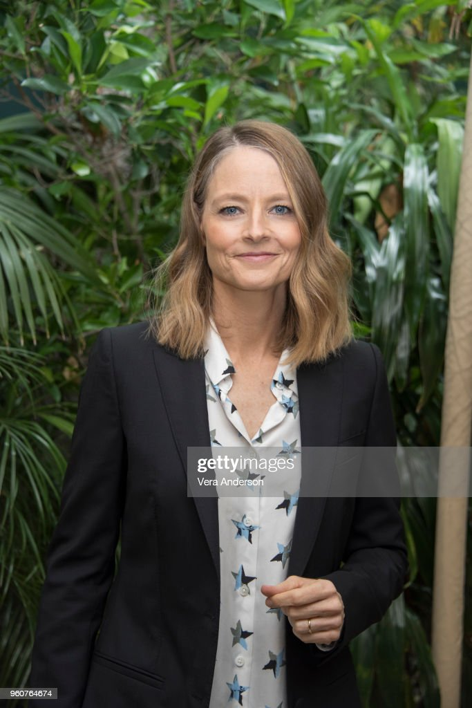 Jodie Foster at the 'Hotel Artemis' Press Conference at the Four Seasons Hotel on April 24, 2018 in Beverly Hills, California.