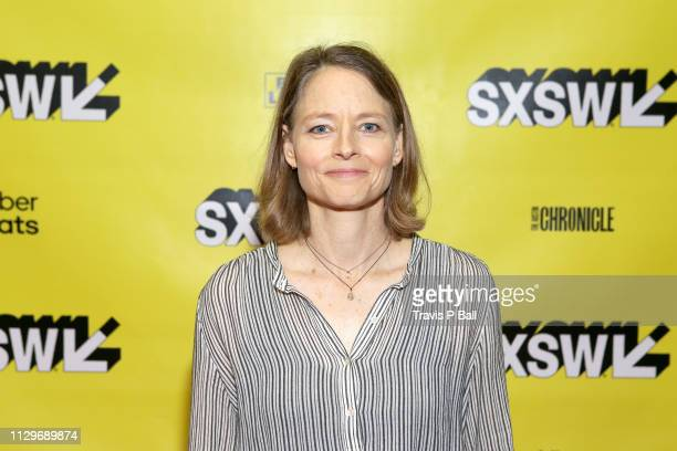 Jodie Foster attends Featured Session: Elisabeth Moss with Brandi Carlile during the 2019 SXSW Conference and Festivals at Austin Convention Center...