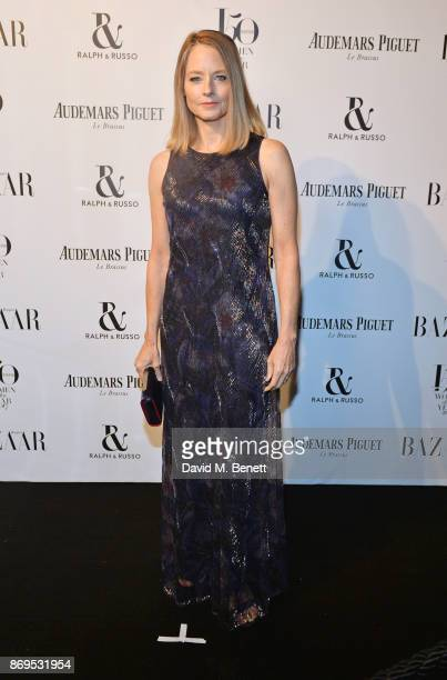 Jodie Foster attends Harper's Bazaar Women of the Year Awards in association with Ralph Russo Audemars Piguet and MercedesBenz at Claridge's Hotel on...