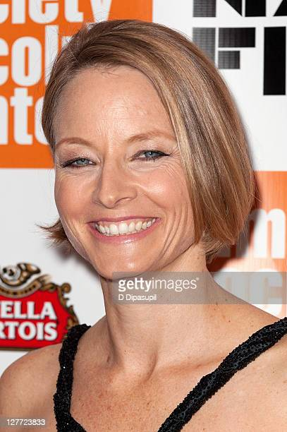 Jodie Foster attends the 2011 New York Film Festival opening night screening of 'Carnage' at Alice Tully Hall Lincoln Center on September 30 2011 in...