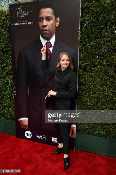 Jodie Foster attends the 47th AFI Life Achievement Award honoring Denzel Washington at Dolby Theatre on June 06 2019 in Hollywood California