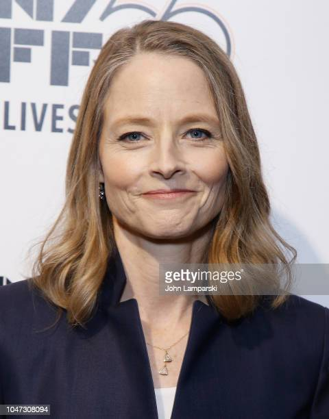 "Jodie Foster attends the 56th New York Film Festival ""Falling Leaves / Be Natural"" at The Film Society of Lincoln Center, Walter Reade Theatre on..."