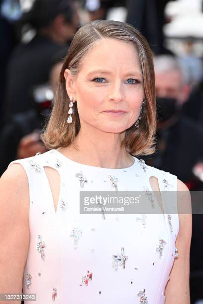 """Jodie Foster attends the """"Annette"""" screening and opening ceremony during the 74th annual Cannes Film Festival on July 06, 2021 in Cannes, France."""