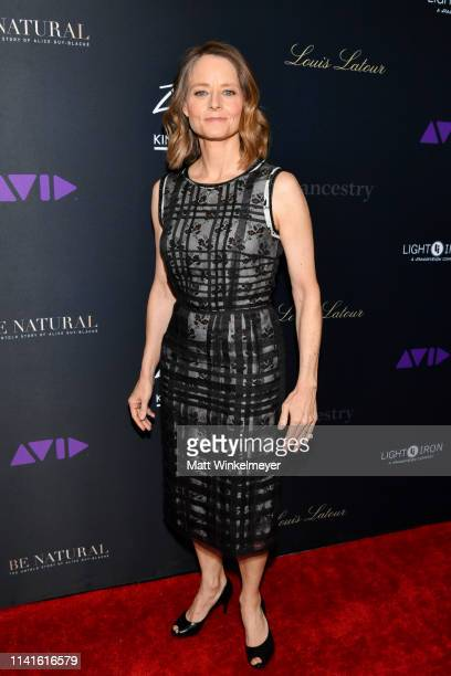 """Jodie Foster attends the premiere of """"Be Natural: The Untold Story of Alice Guy-Blaché at Harmony Gold Theater on April 09, 2019 in Los Angeles,..."""