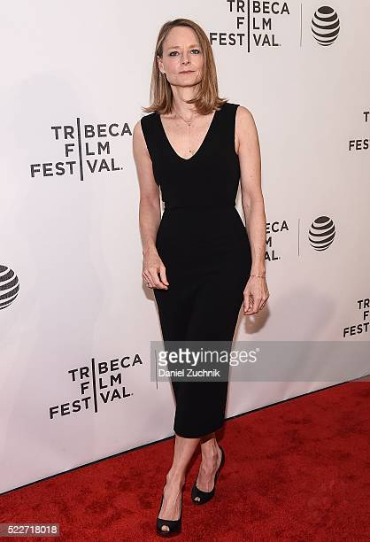 Jodie Foster attends the Tribeca Talks Director's Series: Jodie Foster with Julie Taymor during the 2016 Tribeca Film Festival at Spring Studios on...