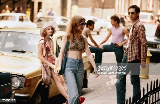 Jodie Foster, Billie Perkins, and Robert De Niro perform a scene in Taxi Driver directed by Martin Scorsese in 1976 in New York, New York.