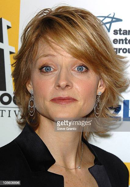 Jodie Foster during 9th Annual Hollywood Film Festival Awards Gala Ceremony Press Room at Beverly Hilton Hotel in Beverly Hills California United...