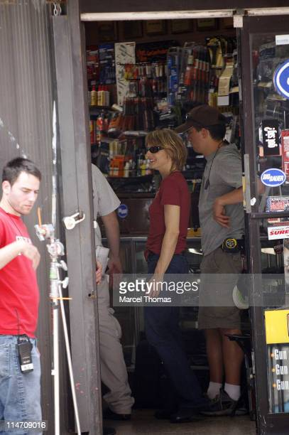 Jodie Foster during Jodie Foster Filming Her New Movie 'The Brave One' on Grand Street in ChinaTown June 13 2006 at Grand Street in New York City New...
