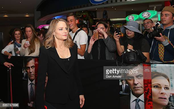 Jodie Foster greets fans ahead of the Money Monster Australian Premiere at Event Cinemas George Street on May 30 2016 in Sydney Australia