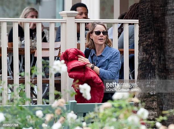 Jodie Foster is seen in Beverly Hills on December 01 2014 in Los Angeles California