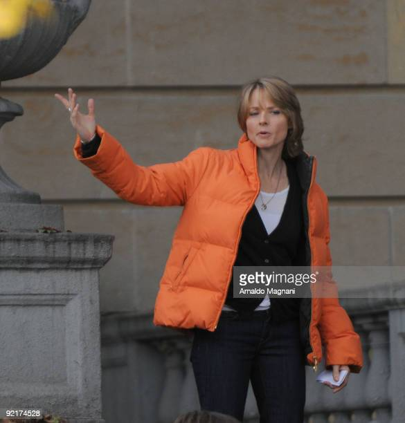 Jodie Foster is seen on the movie set of 'The Beaver' on October 21 2009 in the Bronx borough of New York City