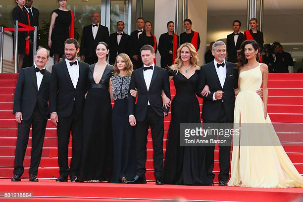 Jodie Foster Julia Roberts George Clooney and Amal Clooney attend the 'Money Monster' Premiere during the 69th annual Cannes Film Festival on May 12...