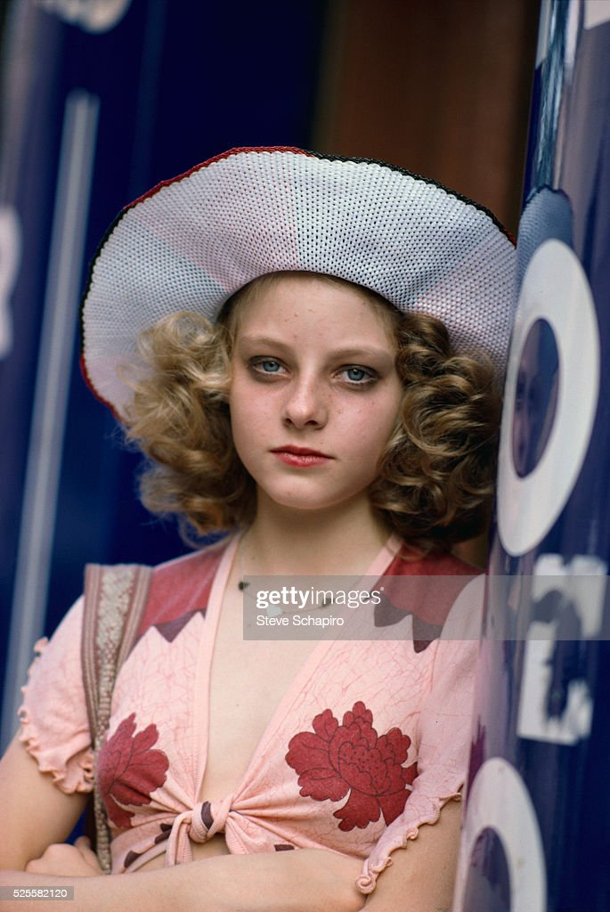 Jodie Foster on the set of Martin Scorsese's Taxi Driver.
