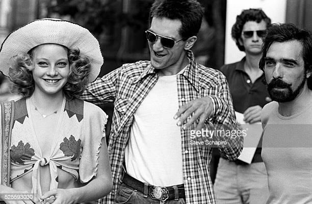 Jodie Foster Robert DeNiro and Martin Scorsese