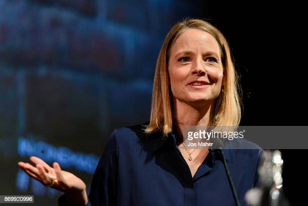 Jodie Foster speaks at 'The Silence of the Lambs' QA at BFI Southbank on November 3 2017 in London England