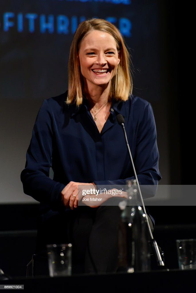 Jodie Foster speaks at 'The Silence of the Lambs' Q&A at BFI Southbank on November 3, 2017 in London, England.