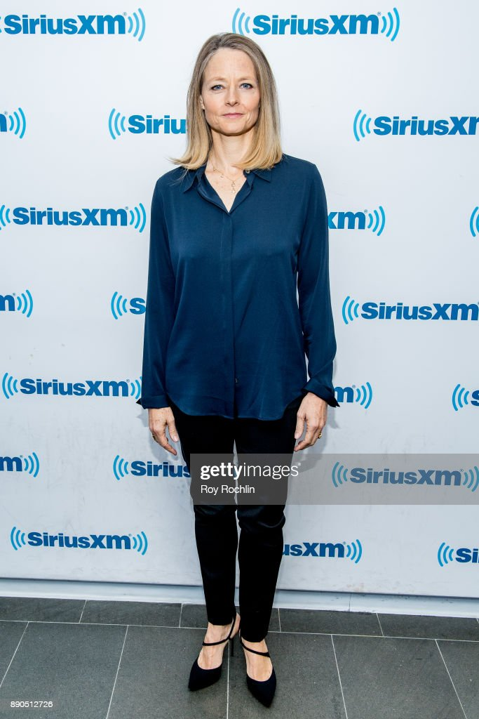 Jodie Foster visits 'Andy Cohen Live' hosted by Andy Cohen on his exclusive SiriusXM channel Radio Andy at SiriusXM Studios on December 11, 2017 in New York City.
