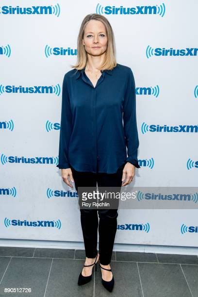 Jodie Foster visits 'Andy Cohen Live' hosted by Andy Cohen on his exclusive SiriusXM channel Radio Andy at SiriusXM Studios on December 11 2017 in...