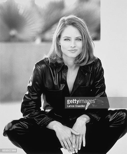 Jodie Foster Wearing Black Leather