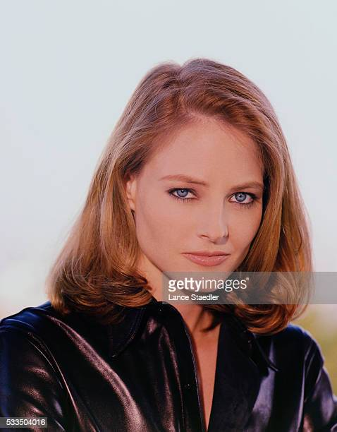 Jodie Foster Wearing Leather Jacket